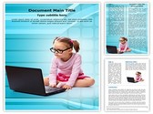 Kid using Laptop Template