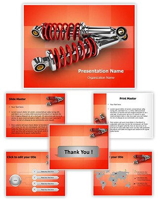 Bike Shock Absorber Editable PowerPoint Template