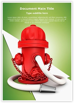 Fire Hydrant Editable Word Template