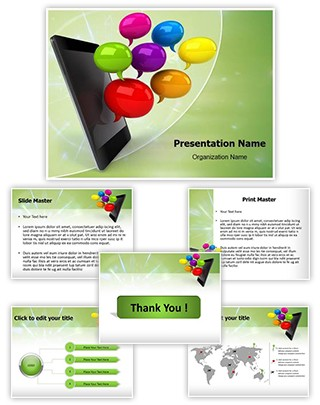 Smartphone Editable PowerPoint Template