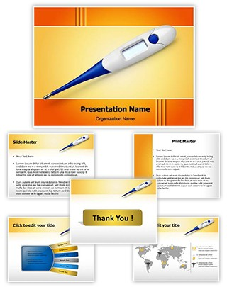 Thermometer Editable PowerPoint Template