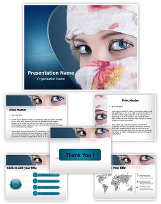 Veiled woman Editable PowerPoint Template