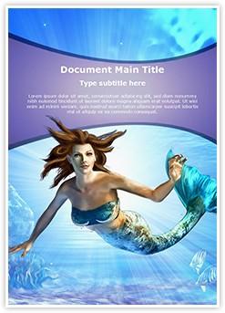 Mermaid Editable Word Template