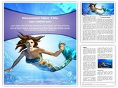 Mermaid Editable Word Template