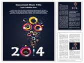 New Year Abstract Editable Word Template