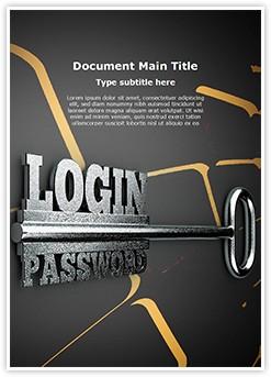 Login Password Editable Word Template