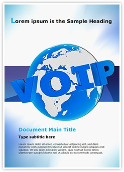 VOIP Editable Word Template