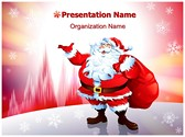 Santa Claus Snowfall Editable PowerPoint Template