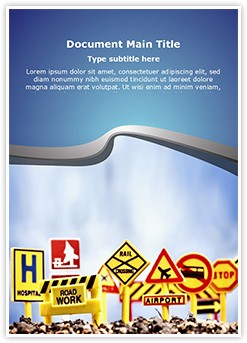 Sign Boards Editable Word Template