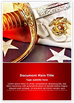 Marine Corps Editable Word Template