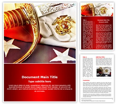 marine corps powerpoint templates - marine corps editable word template and design