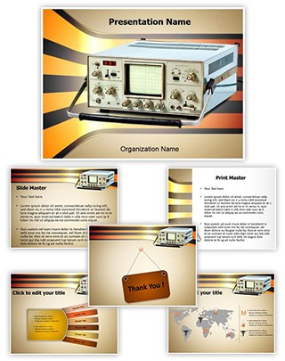 Cathode Ray Oscilloscope Editable PowerPoint Template