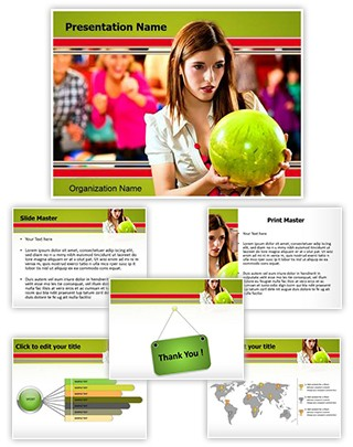 Bowling Ball Editable PowerPoint Template