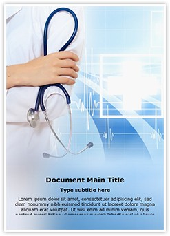 medical background Editable Word Template