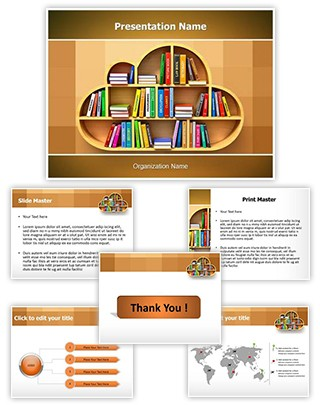 Cloud Library Editable PowerPoint Template