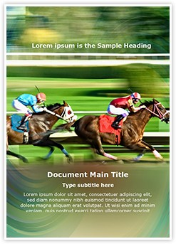 Racing horses Editable Word Template