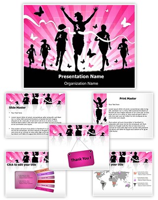 Breast Cancer Awareness Marathon Editable PowerPoint Template