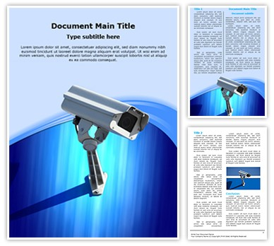 Security Camera Editable Word Document Template
