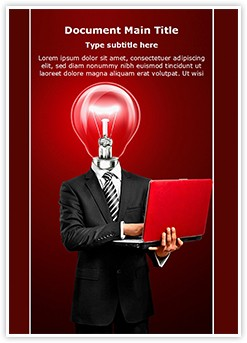 Businessman with Idea Editable Word Template