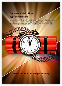 Time bomb Editable Word Template